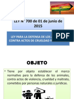 Ley 700 CONTRA EL MALTRATO ANIMAL (2)