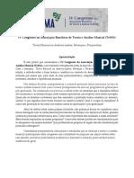 Chamada - IV Congresso da TeMA (2021) - 30 de agosto