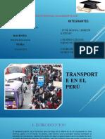 TRANSPORTE EN EL PERU