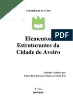 Elementos estruturantes da cidade de Aveiro