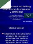 El blog como herramienta de aprendizaje
