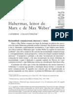 Habermas, leitor de marx e Max Weber