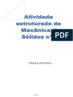 Atividade estruturada de Mecânica dos Sólidos - Treliça metodo dos nós