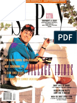 Spy Magazine September 1989 | Leisure