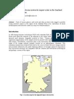 A possible Holocene meteorite impact in the Saarland region, West Germany