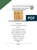 Iatrofilosofía Grupo Nro 1
