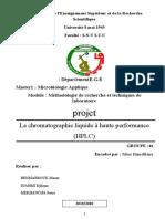 Méthodologie (HPLC) G03