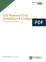 EOS Platform 2013 Inst. e Config