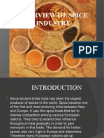 OVERVIEW OF SPICE INDUSTRY