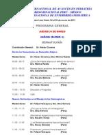 Programa  Cientifico XX Curso Intl de Pediatria Lima 2011