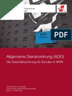 GEW NRW Allgemeine Dienstordnung ADO Die Geschftsordnung Fr Schulen in NRW