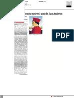 Comitato d'onore per i 600 anni del Duca Federico - Il Resto del Carlino del 7 luglio 2021