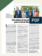 Tribune Groupe Socialiste Et Républicain - Juillet Aout 2021