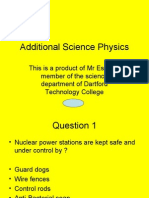 Additional science physics