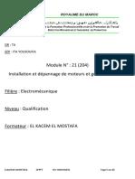 installation de moteurs et generatrices à CC (MCC)