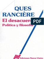 12. El desacuerdo política y filosofía by Jacques Rancière