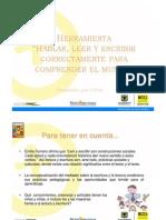 HERRAMIENTA LECTURA, ESCRITURA Y ORALIDAD