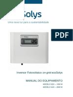 MANUAL DE INSTALAÇÃO DO INVERSOR ECOSOLYS