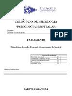 """Fichamento """"Microfísica do poder Foucault. O nascimento do hospital"""""""