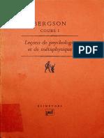Henri Bergson - Leçons de psychologie et de métaphysique, Tome 1 (1990, Presses Universitaires de France) - libgen.lc