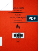 Henri Bergson - Cours Sur La Philosophie Grecque - Cours IV (1998, Presses Universitaires de France) - Libgen.lc