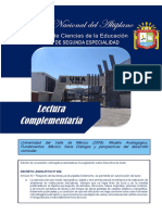 Lectura Complementaria Fuentes Curriculares del Modelo Andragógico 1