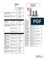 BLACK 3.22 schedule