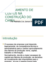 PLANEJAMENTO DE CUSTOS NA CONSTRUÇÃO DO CAPRIL