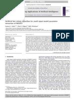 Artificial beecolonyalgorithmforsmallsignalmodelparameter