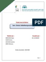 Les Choix Intertemporels