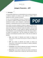 Tutorial Modelagem Financeira Modelo APP