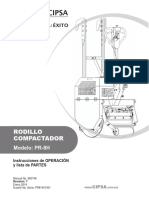 RODILLO COMPACTADOR. Modelo_ PR-8H. Instrucciones de OPERACIÓN y lista de PARTES