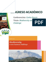 Biodiversity and Business Chalenge - CARLOS ROSSIN
