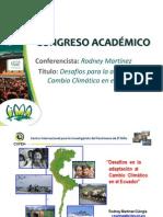 Desafíos para adaptación al Cambio Climático en Ecuador - RODNEY MARTINEZ