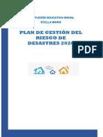Plan de Gestión de Riesgo de Desastres 2020