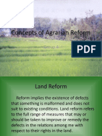 Concepts of Agrarian Reform