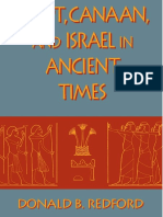 Egito, Canaã e Israel na Antiguidade - Donald Redford