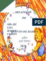 PORTAFOLIO  DE HILDA BAQUE CORONEL QUINTO 2020-2021