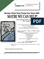 Water Assistance Flier