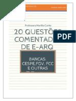 20 QUESTÕES COMENTADAS E-ARQ