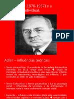 Alfred Adler(1870-1937) e a Psicologia Individual