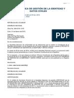LEY ORGÁNICA DE GESTIÓN DE LA IDENTIDAD Y DATOS CIVILES