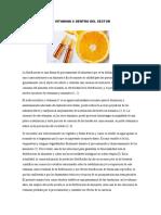 Utilización de La Vitamina c Dentro Del Sector Agroindustrial