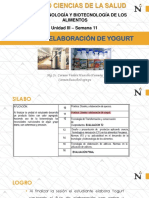 SEMANA 11. Elaboración de Yogurt(1)