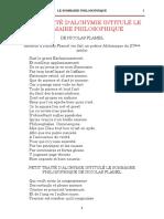 Flamel Nicolas - Le sommaire philosophique