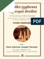 Pernety Joseph - Les fables egyptiennes et grecques tome 01
