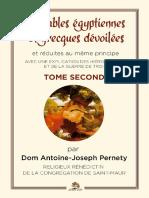 Pernety Joseph - Les fables egyptiennes et grecques tome 02