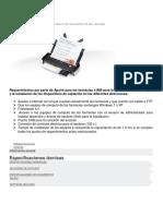 ESPECIFICACIONES Y REQUERIMIENTOS CANON-P215