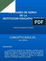 Cuadro de Distribuci%F3n de Secciones y Horas de clase