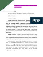 PDF INTRODUCCIÓN de lectura OPTATIVA AL  TEÓRICO sobre HEIDEGGER Mario Gomez